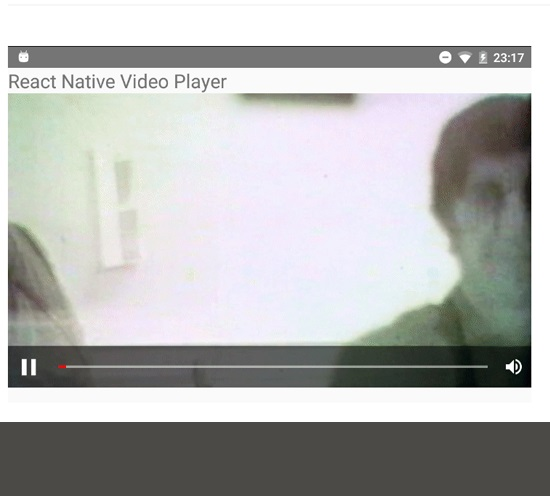 react native video player