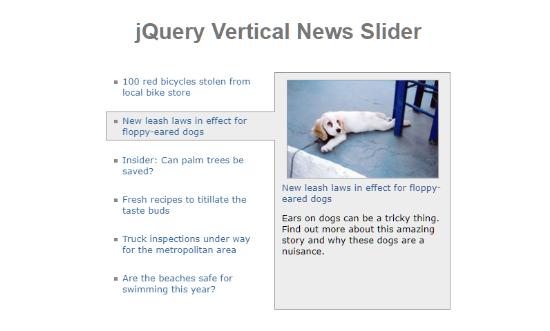 vertical img jquery slider