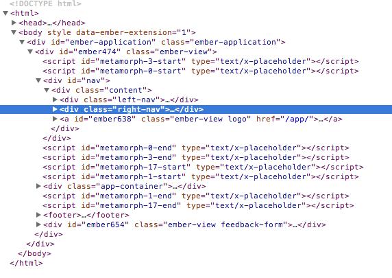 compiled handlebars html
