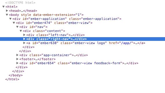 compiled htmlbars html