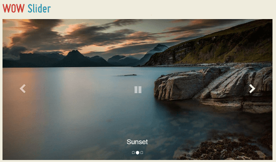 wow jquery slider