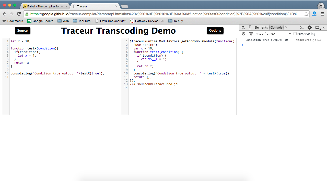 traceir repl