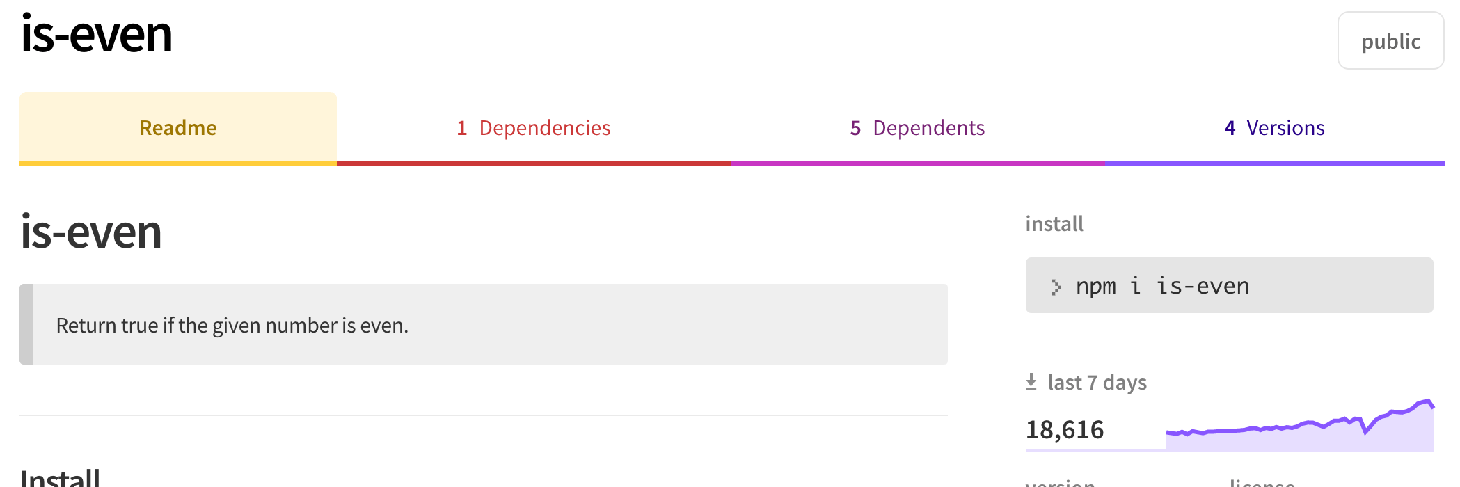 is-even npm